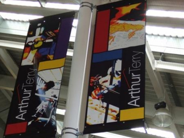 Projecting Banners, sign banners, banners, digital banners, school banners
